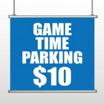 Parking 123 Hanging Banner