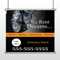 Rent Dreams 109 Hanging Banner