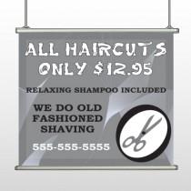 Scissor Cut 286 Hanging Banner