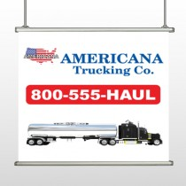 Tanker Truck 315 Hanging Banner