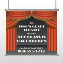Theatre Curtains 521 Hanging Banner