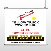 Towing 125 Hanging Banner