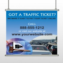 Traffic Cars 151 Hanging Banner