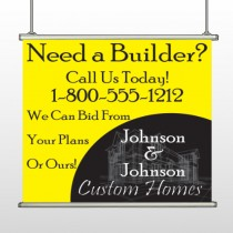 Yellow House Plan 216 Hanging Banner