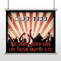 Night Club 523 Hanging Banner