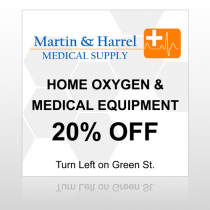 Home Oxygen 139 Site Sign