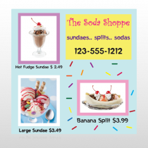 Ice Cream 374 Site Sign