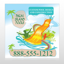 Palm Island Pool 534 Banner