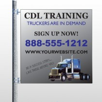 CDL Training 155 Pole Banner