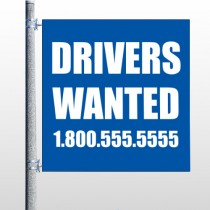 Drivers Wanted 314 Pole Banner