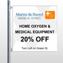 Home Oxygen 139  Pole Banner