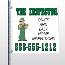 Home Inspection 361 Pole Banner