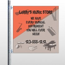 Larry Music Store 372 Pole Banner