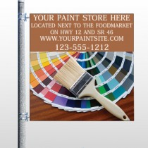Paint Brushes 256 Pole Banner