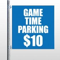 Parking 123 Pole Banner