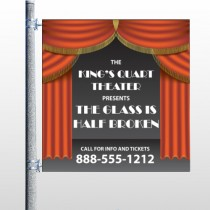 Theatre Curtains 521 Pole Banner