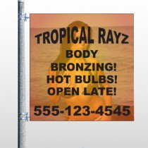 Tropical Rayz Tan 490 Pole Banner
