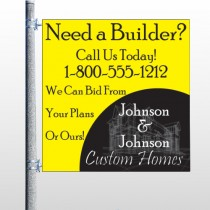 Yellow House Plan 216 Pole Banner
