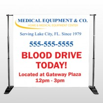 Blood Drive 97 Pocket Banner Stand