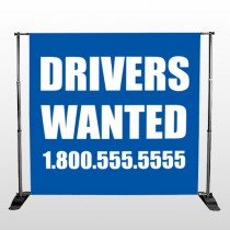 Drivers Wanted 314 Pocket Banner Stand