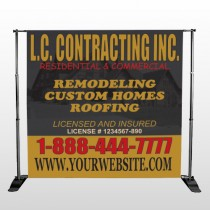 Faded House 500 Pocket Banner Stand