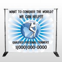 Man On Earth 406 Pocket Banner Stand