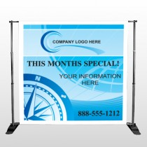 North Compass 148 Pocket Banner Stand