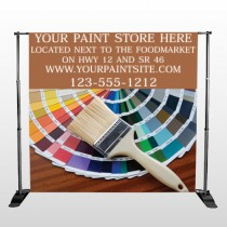 Paint Brushes 256 Pocket Banner Stand