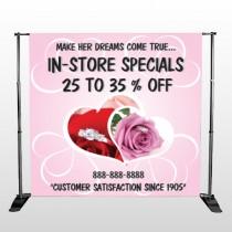 Pink Rose Hide Ring 400 Pocket Banner Stand