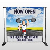 Road Workout 407 Pocket Banner Stand