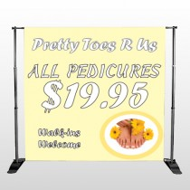 Yellow Pedicure 294 Pocket Banner Stand
