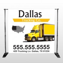 Yellow Truck 296 Pocket Banner Stand