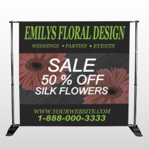 Black And Floral 496 Pocket Banner Stand