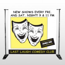 Comedy Mask 516 Pocket Banner Stand
