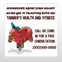 Running Heart 401 Custom Sign