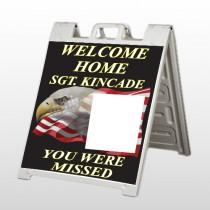 Eagle Flag 307 A Frame Sign