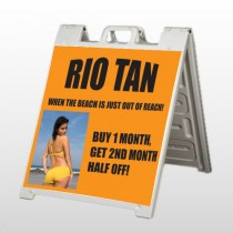 Rio Tan Beach 489 A Frame Sign
