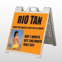 Rio Tan Beach 489 A Frame Sign