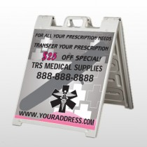 Caduceus Med 503 A-Frame Sign