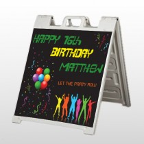 Silhouette Party 187 A Frame Sign