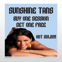 Sunshine Tans 297 Custom Banner