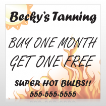 Tanning 298 Site Sign