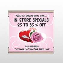 Pink Rose Hide Ring 400 Track Banner