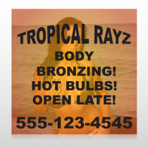 Tropical Rayz Tan 490 Custom Banner