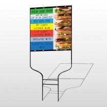 Sandwich 375 Round Rod Sign