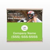 Bike Insurance 110 Track Sign