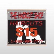 Haircut Scissors 644 Track Sign