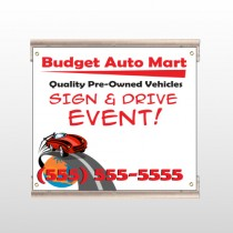 Budget Auto Mart 116 Track Sign