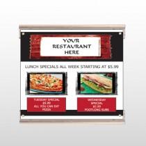 Restaurant Specials 370 Track Sign