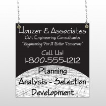 Black Planning 218 Window Sign